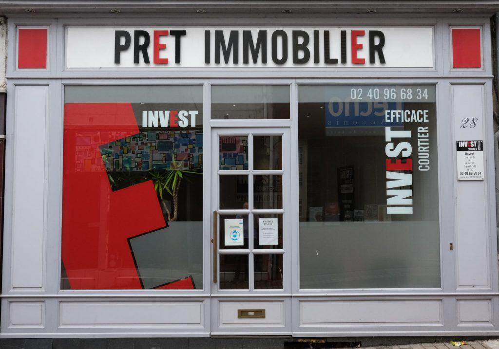 Vitrine de l'agence de courtage à Ancenis-Saint-Géréon - Invest Courtier Efficace
